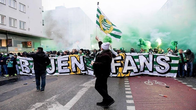 Hammarby fans kick off their new season