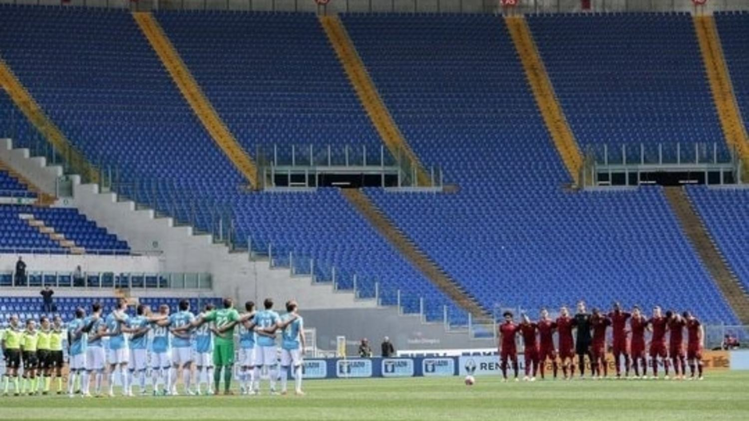 Rome: Another derby without ultras...