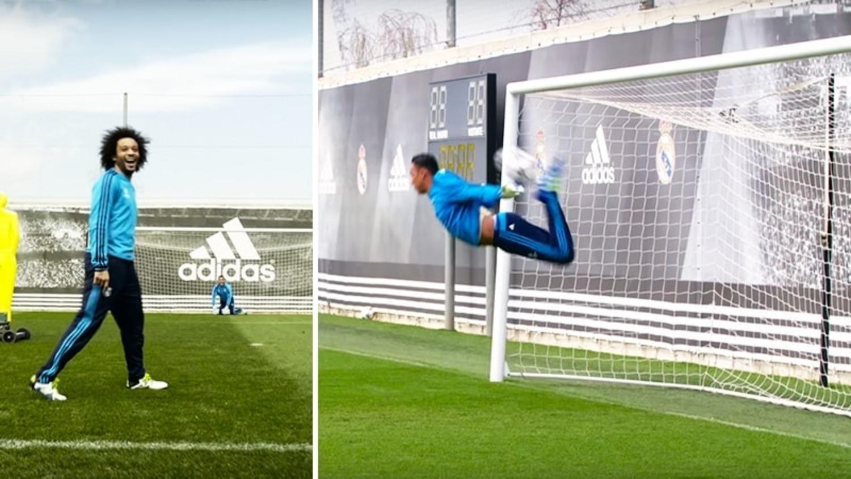 Keylor Navas Pulls Off Scorpion Kick with Real Madrid Stars!