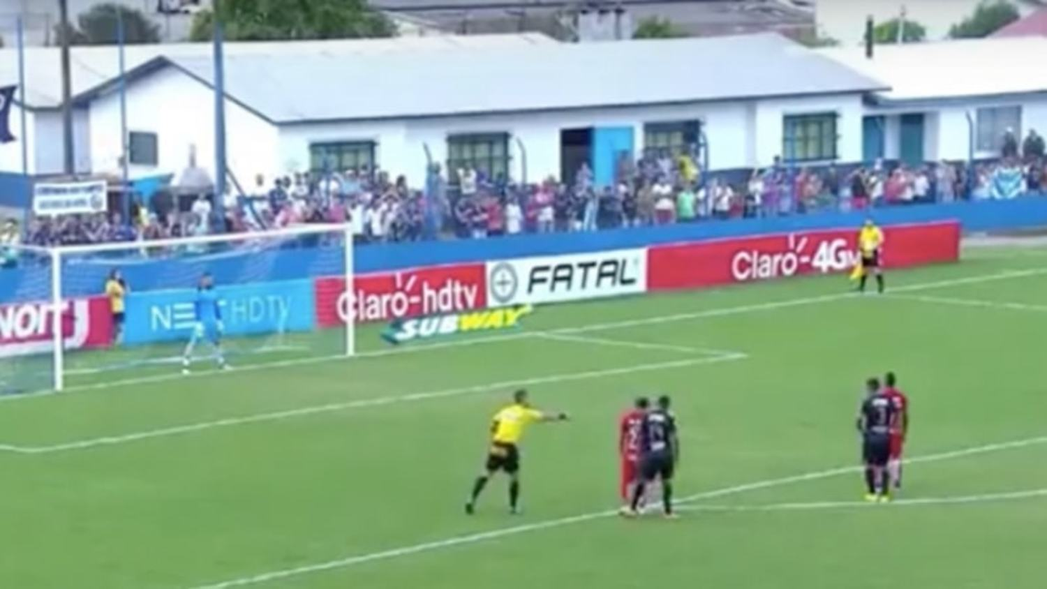 The Unluckiest Penalty Ever? Goalkeeper pulls off 'no look' penalty save