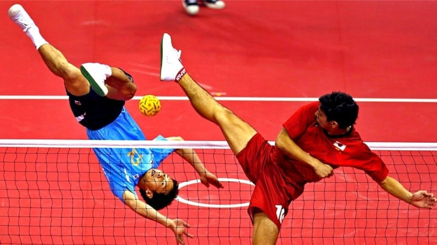Sepak Tekraw is football meets volleyball - and its f***ing mental