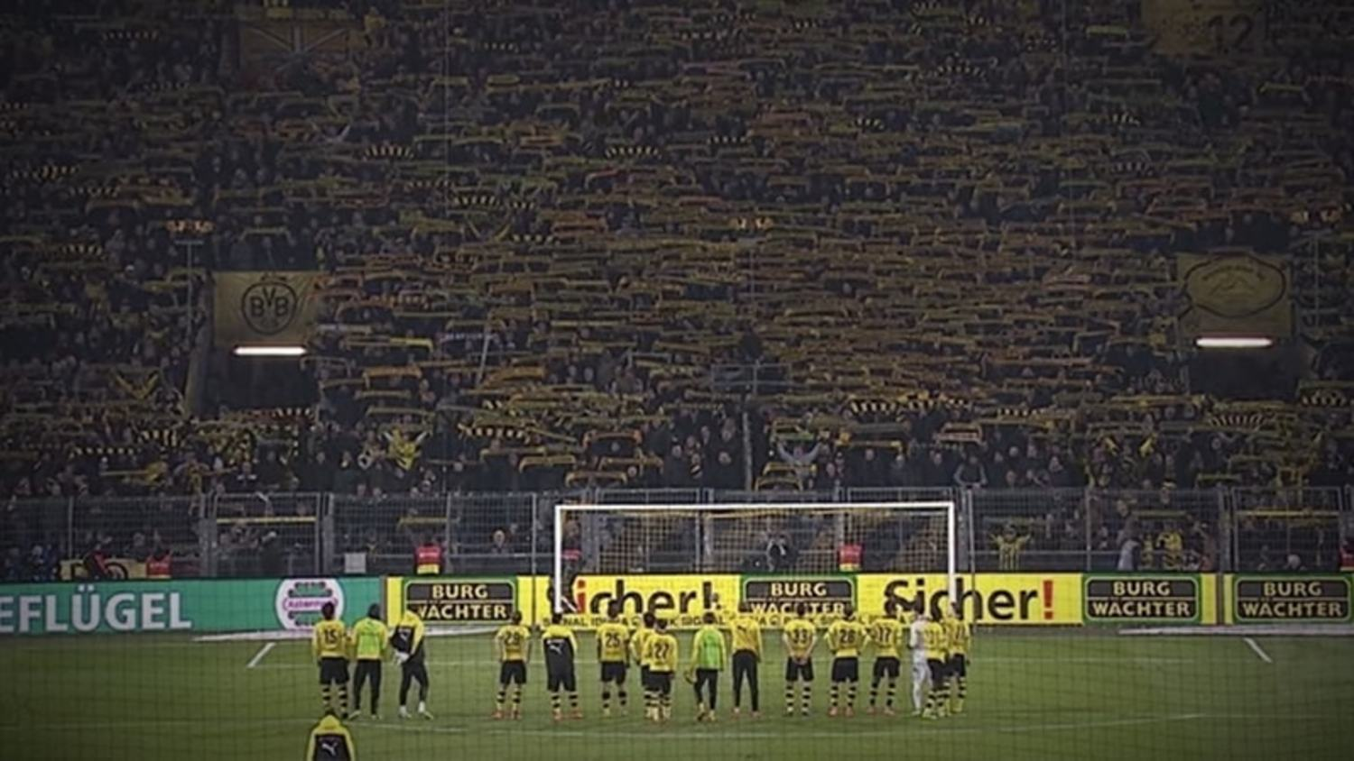 Dortmund Supporters and Players Emotional