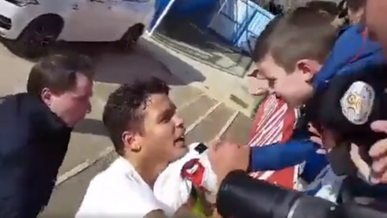 Thiago Silva gives young PSG fan a day to remember