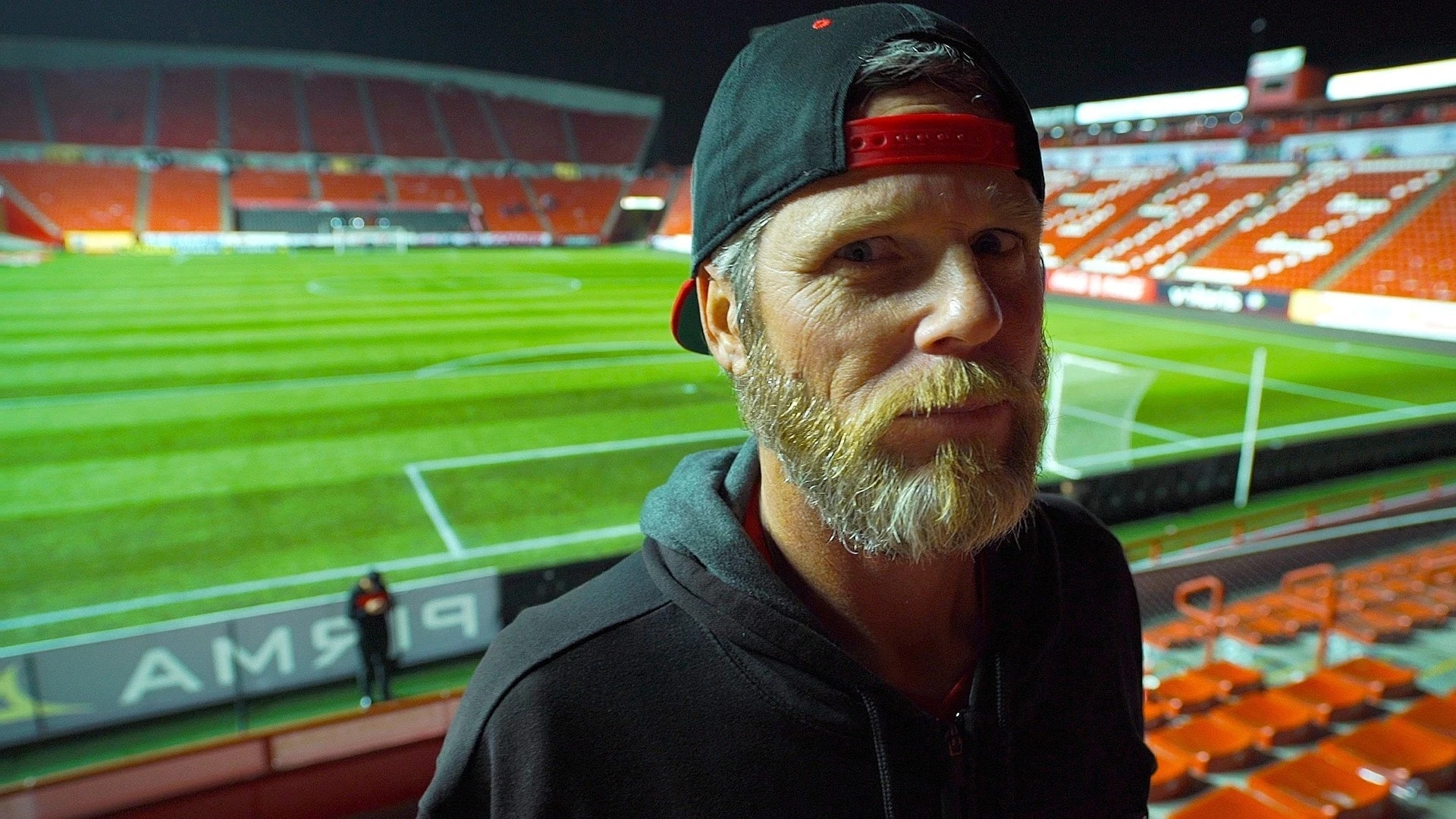 Marty Albert in his native environment, Estadio Caliente in Tijuana.