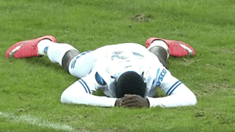 Ibrahim Shuaibu's incredible miss for Haugesund vs Lillestrom