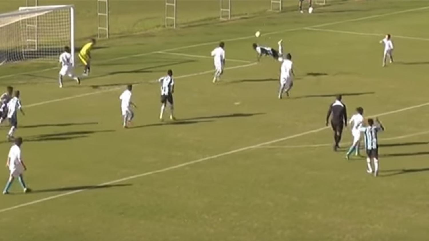 14 Year Old Brazilian scores outrageous Scorpion Kick