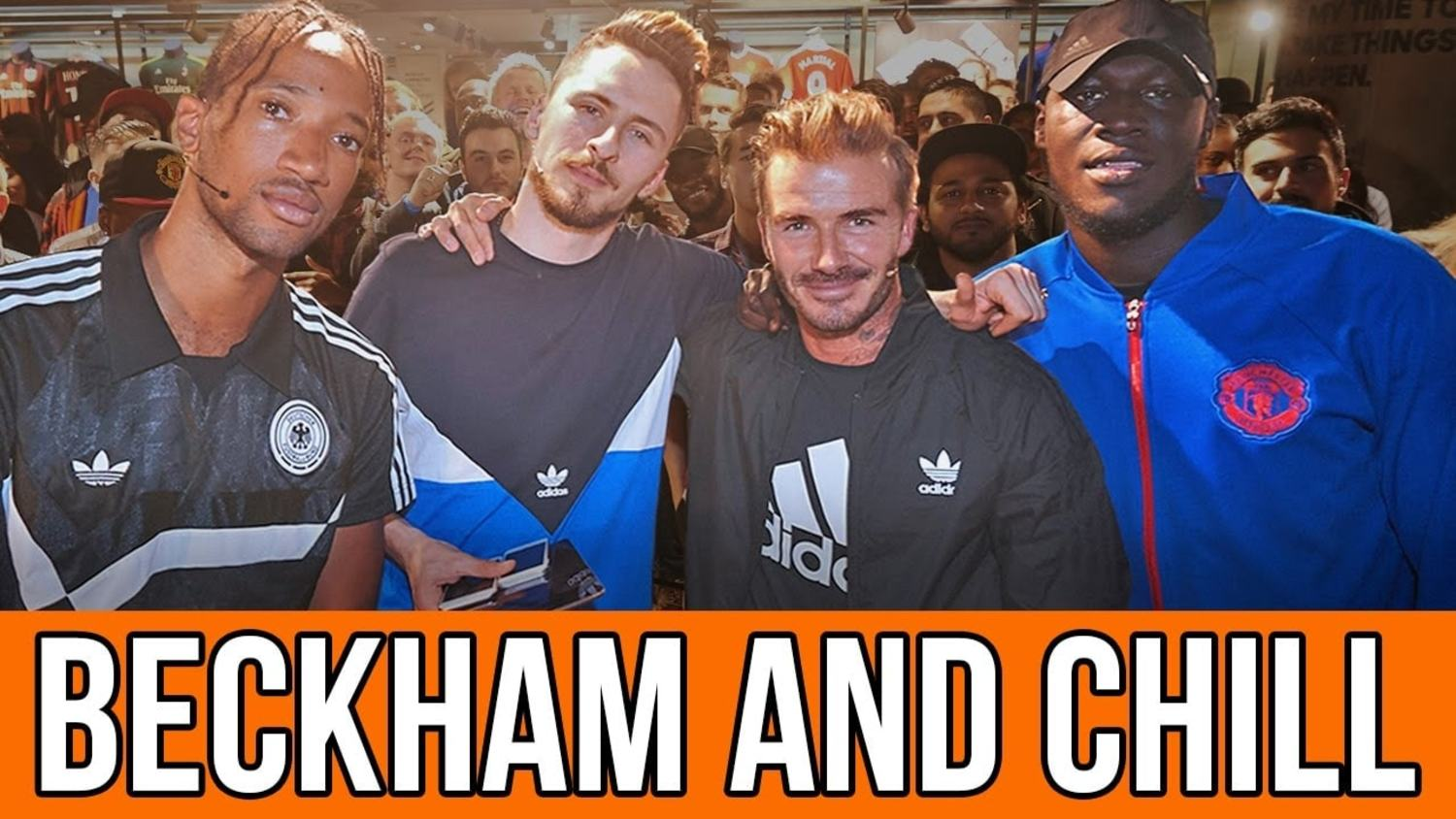 David Beckham & Stormzy Chill with Poet & Vuj: Adidas x Man United Kit Launch
