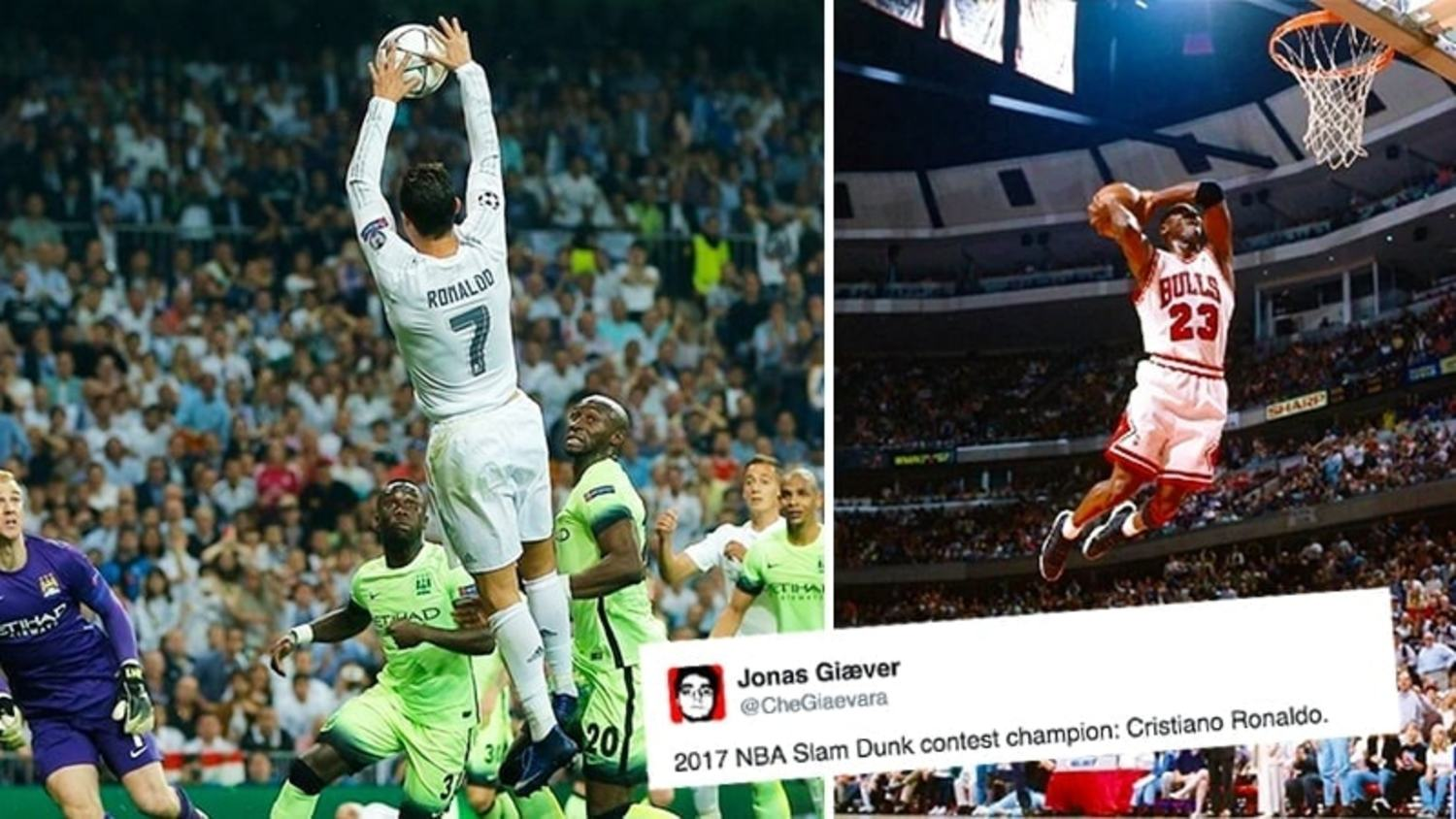 How the Internet Reacted to Ronaldo's Weird 'Slam Dunk' vs Man City