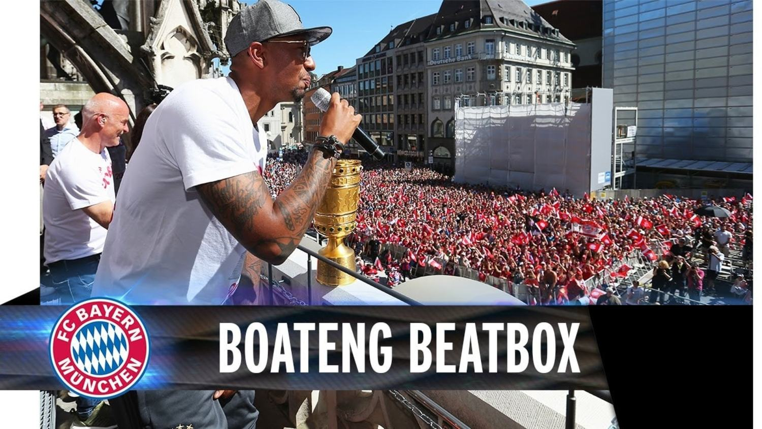 Jerome Boateng Celebrates Cup Win By Beatboxing!