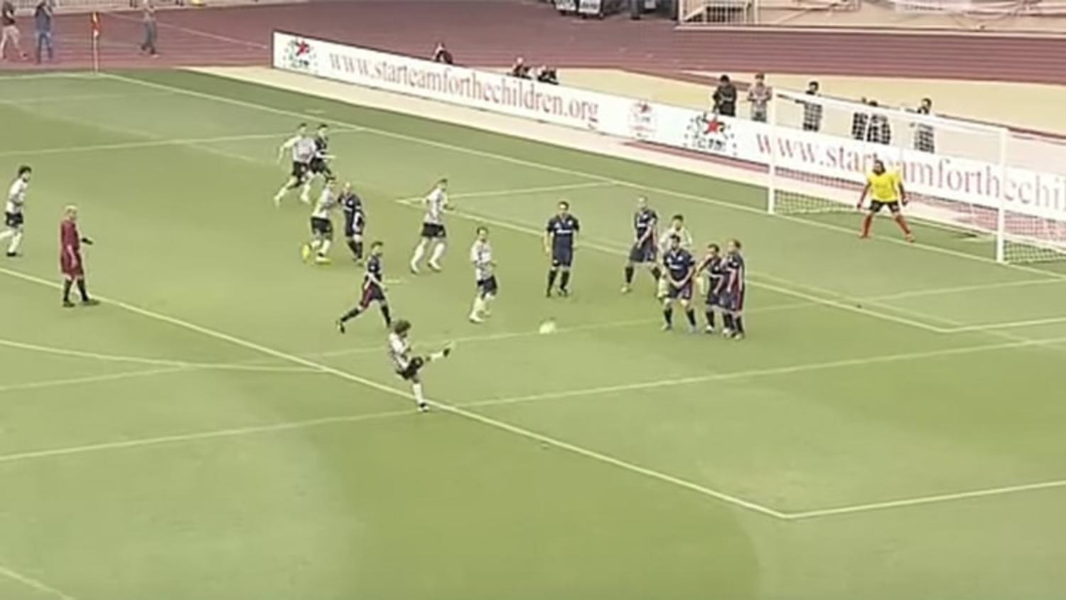 Fernando Alonso Scores Outrageous Free-kick in Monaco Charity Match