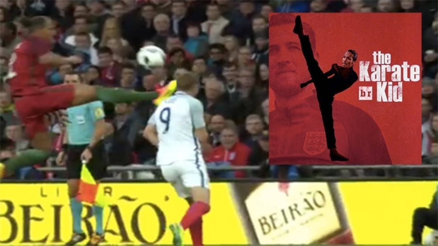 How the internet reacted to Bruno Alves' crazy foul on Harry Kane