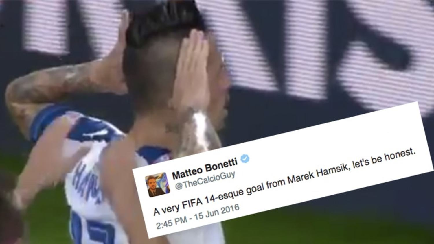 How the internet reacted to Hamsik's screamer against Russia