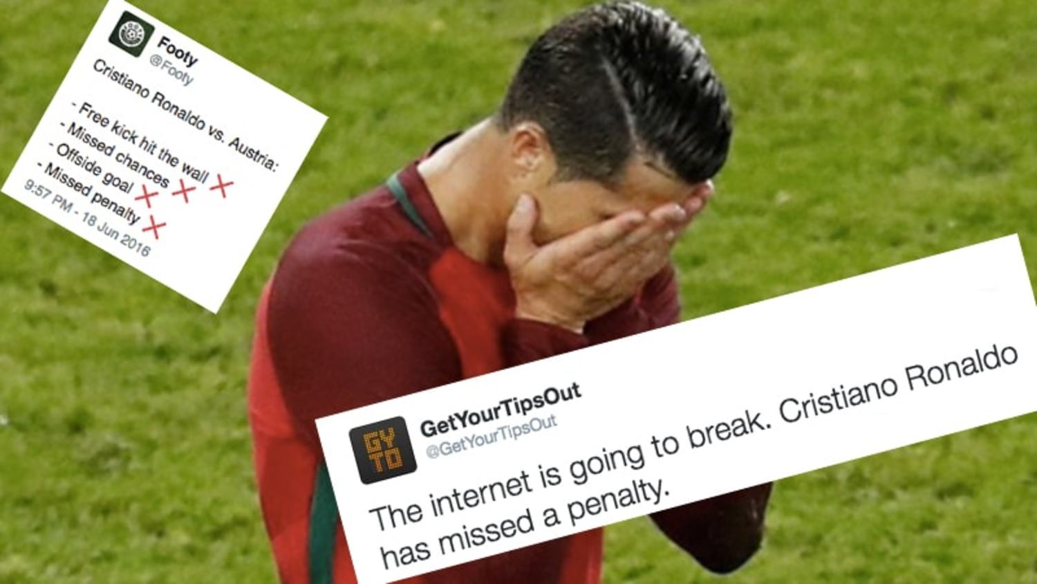 How the internet reacted to Ronaldo's Euro 2016 nightmare & penalty miss