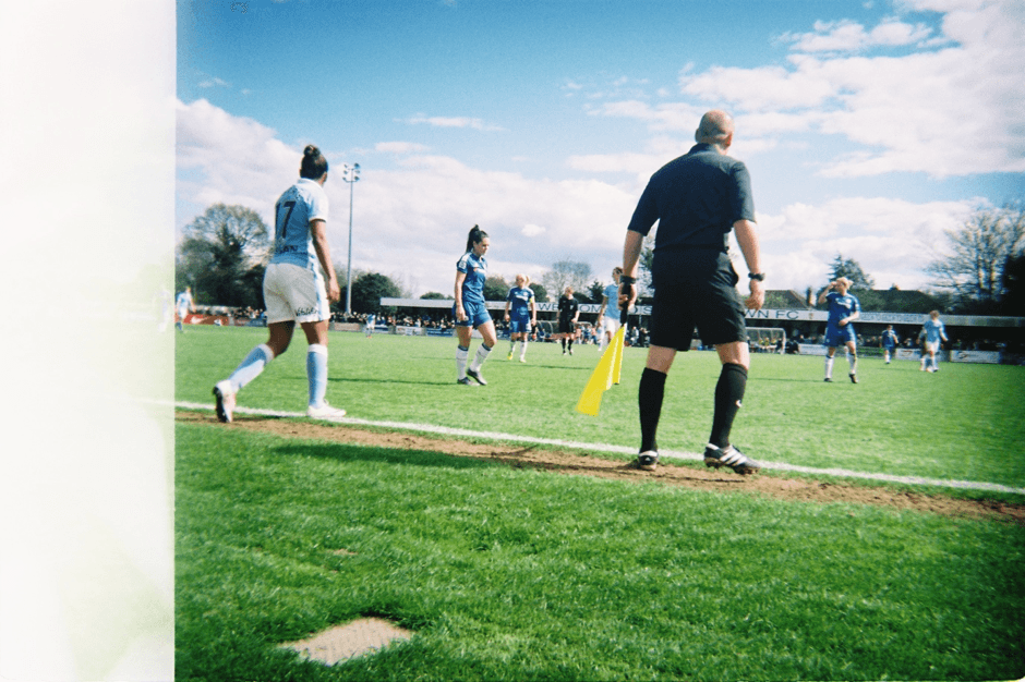 'Chelsea Ladies v Manchester City Women's in the FA Cup Semi Final. I find it a huge privilege to be able to shoot and witness such talented players. My hero is Katie Chapman. I never thought I'd get to see her play, now I'm pitchside at most of these games. I'm also a diehard Chelsea fan.' – Axelle Courlander