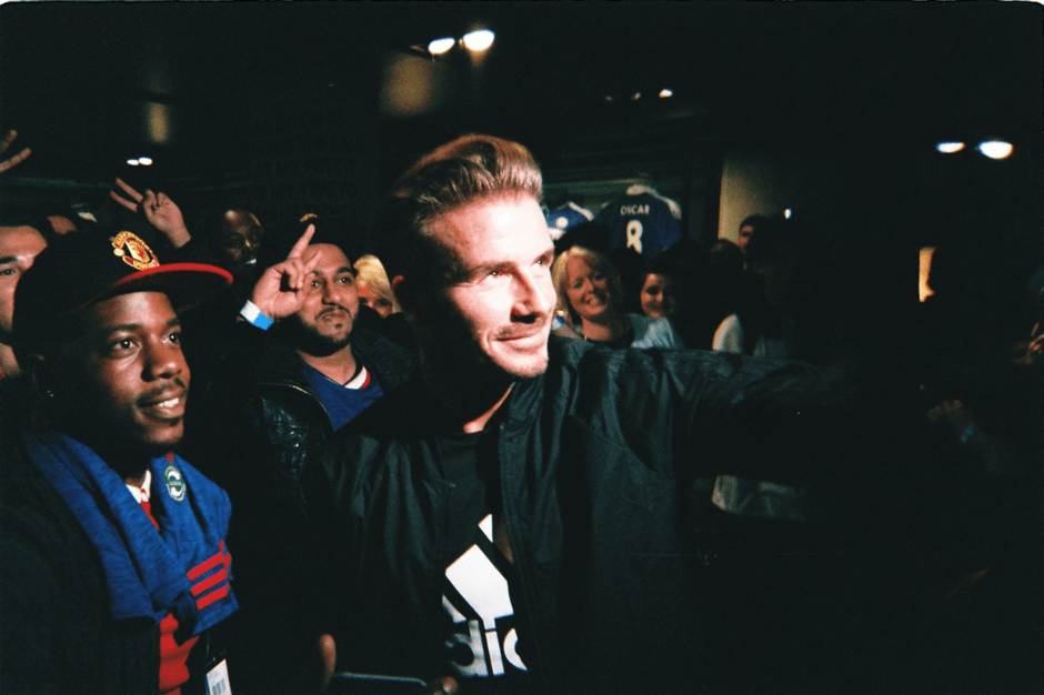 'I thought David Beckham would be a pretty cool guy. And damn did he prove me right. Beckham was a surprise guest at the new Manchester United kit launch at the London adidas store and his presence left many in awe. For me personally, it was surreal to host him in a store where I used to beg my mum for boots as a kid. The gentleman in the cap behind him with the gleaming smile is a school friend I hadn't seen for years. If a picture is worth a thousand words, well believe me, this is one.' – David Vujanic