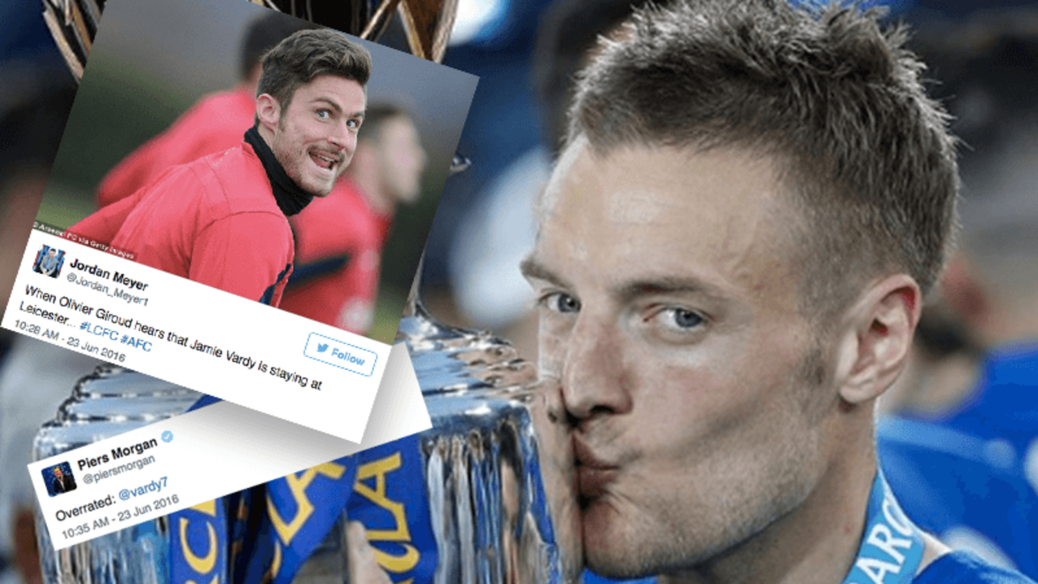 How the internet reacted to Jamie Vardy signing a new Leicester City contract
