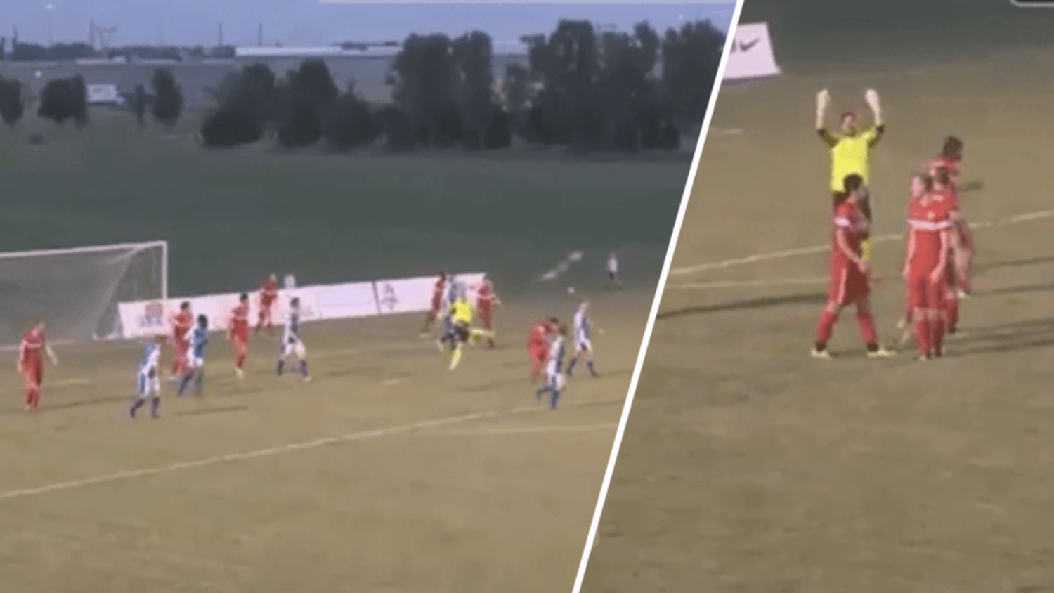 FC Wichita goakeeper Mark Weir scores outrageous goal from his own box