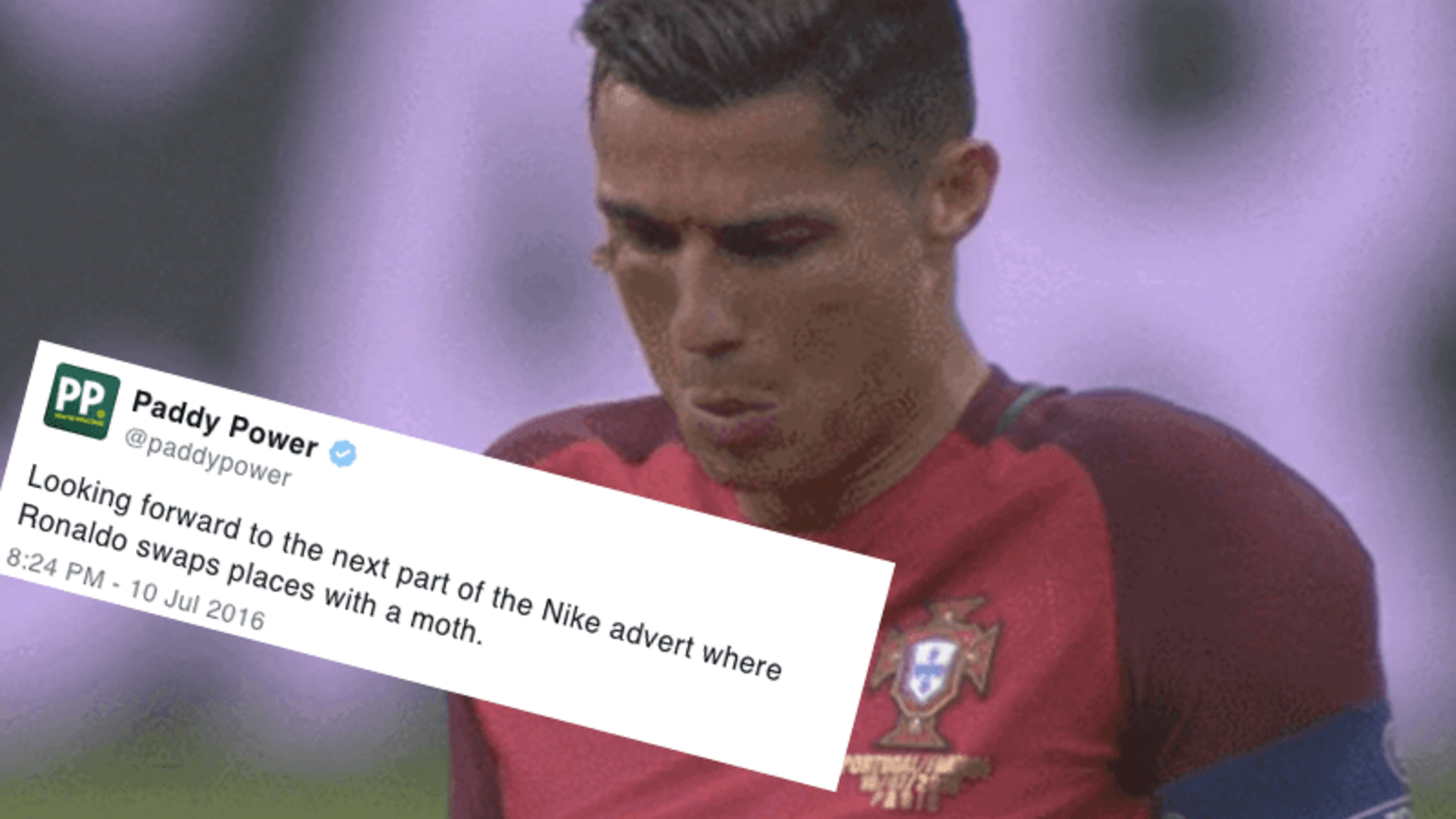 How the internet reacted to Cristiano Ronaldo's Moth in Euro 2016 Final