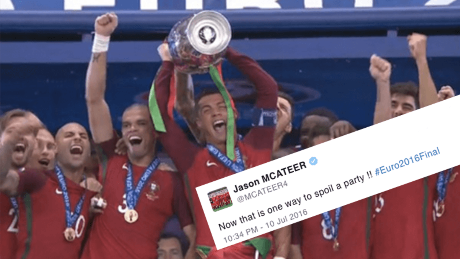 How the internet reacted to Portugal winning Euro 2016