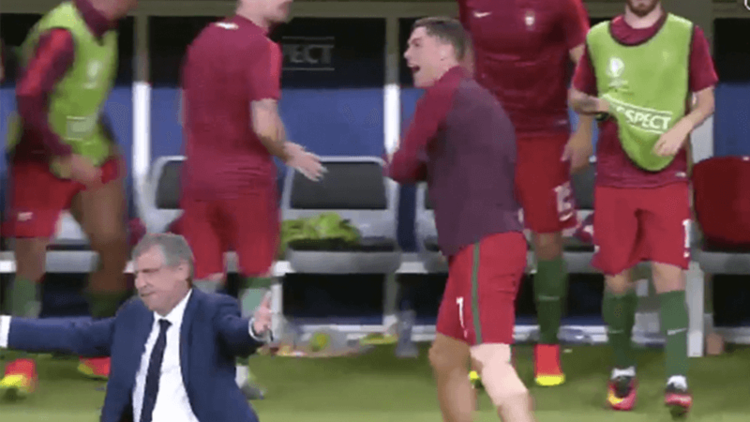 Best of Ronaldo on sidelines as he turns into 'coach' after injury in Euro 2016 Final