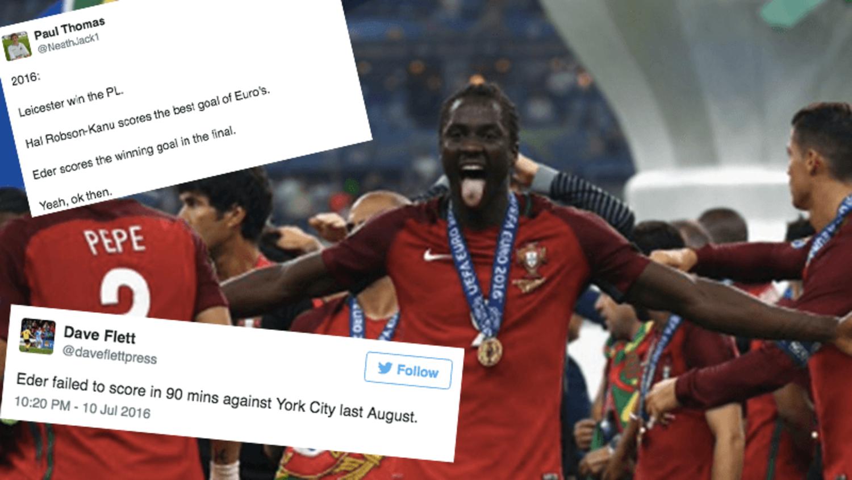 Best Tweets as Swansea Flop Eder Becomes Portuguese Euro 2016 Hero