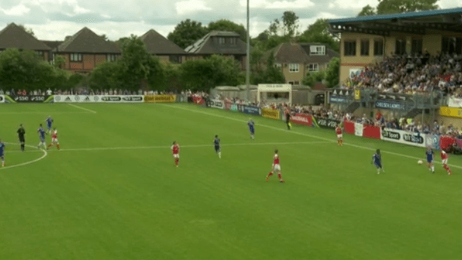 Arsenal's Alex Scott scores incredible 40 yard own goal in WSL against London rivals Chelsea