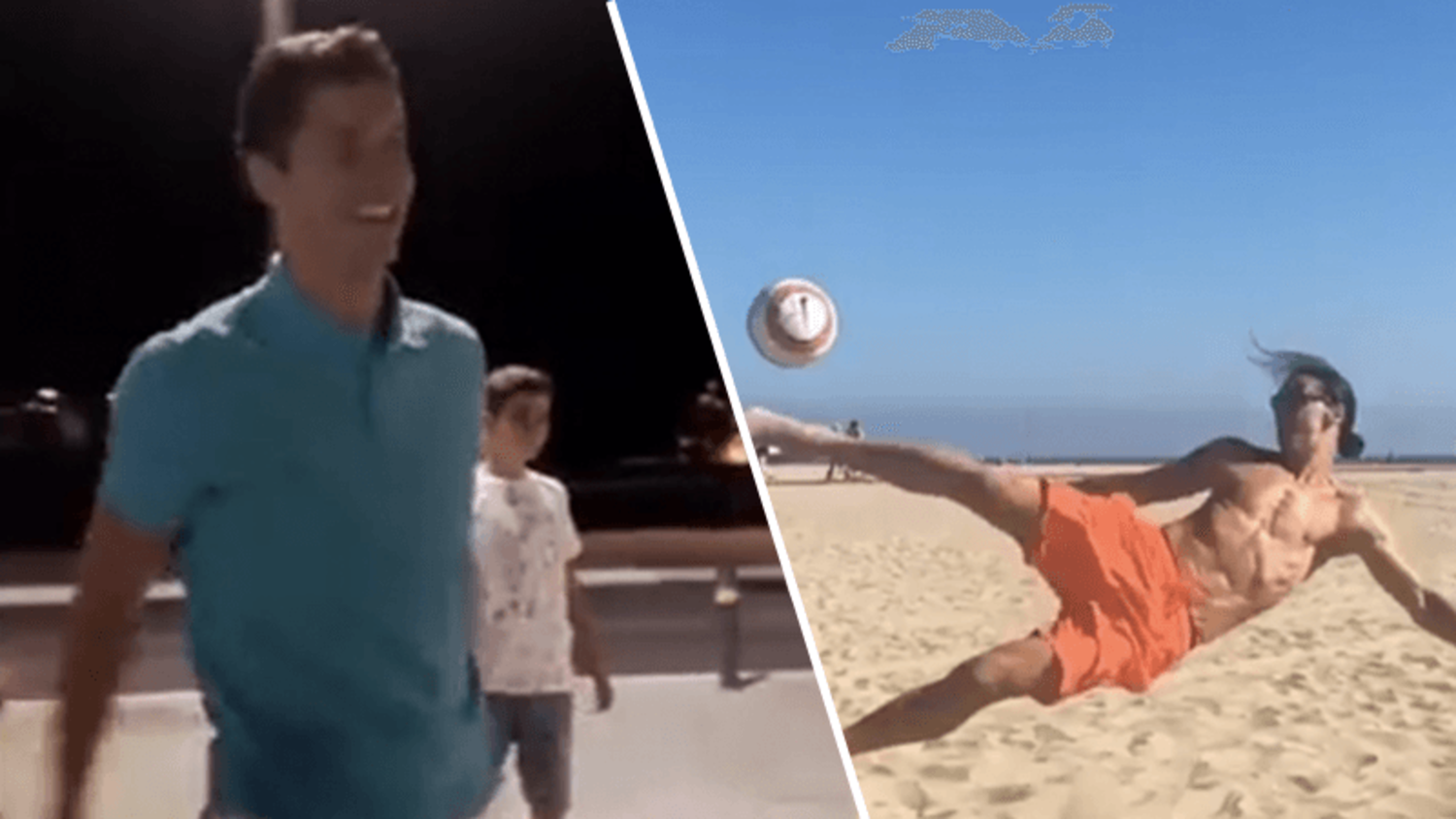 Footballers showing their skills on holiday ft. Zlatan & Lewandowski