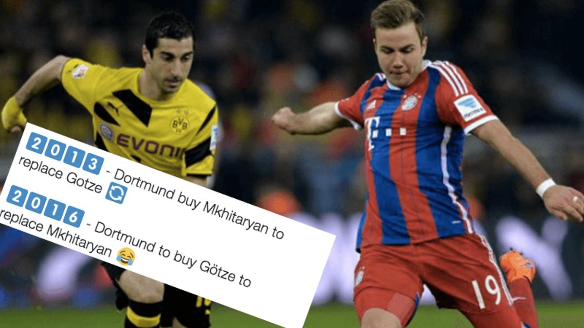 How the internet reacted to Gotze's imminent Dortmund return