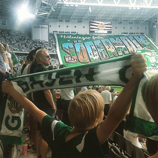 Incredible show of support from the Hammarby fans
