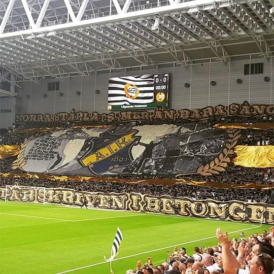 The AIK fans were not to be outdone