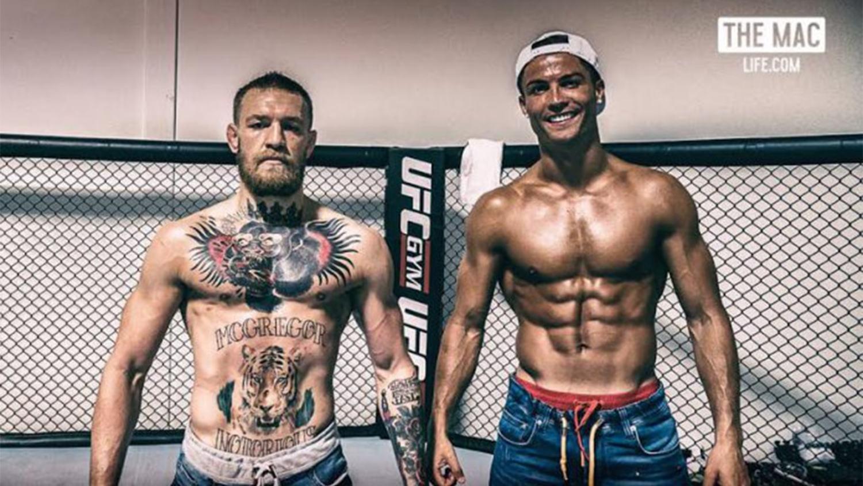 Cristiano Ronaldo Visits UFC Star Conor McGregor