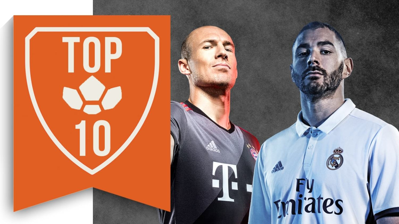 Top 10 Best Kits Of The 2016/17 Season