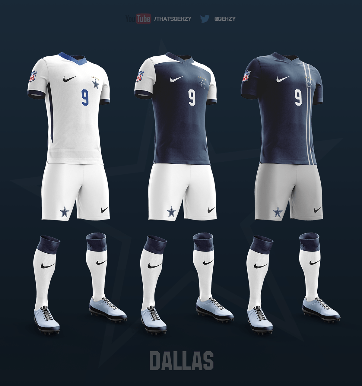 NFL team soccer kits  Dallas Cowboys Forum  CowboysZone.com
