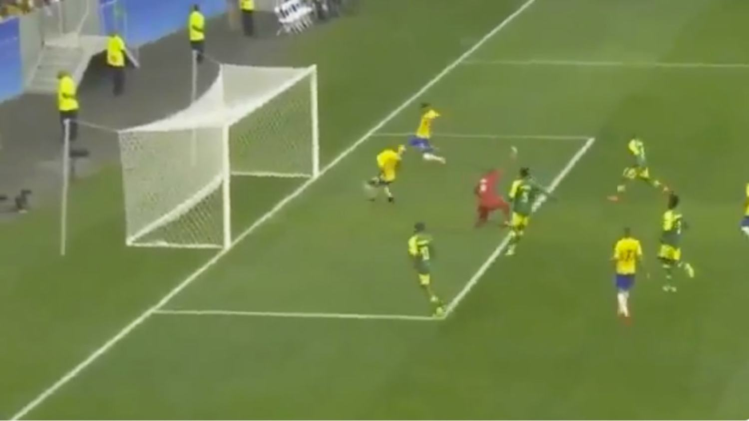Man City Signing Gabriel Jesus Crazy Open Goal Miss For Brazil