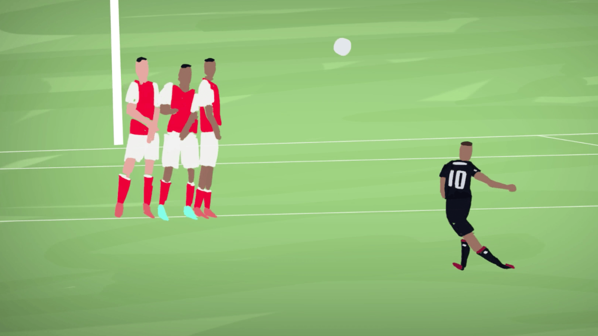 Top 5 Goals from the Premier League Opening Weekend Animated