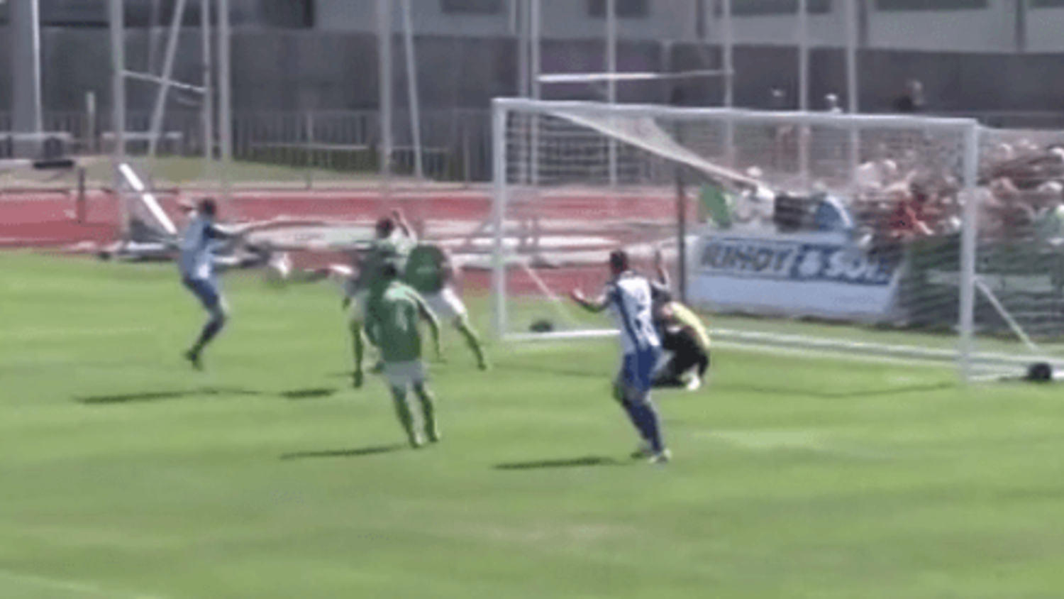 Incredible wind assisted goal scored in FA Cup by Thamesmead FC