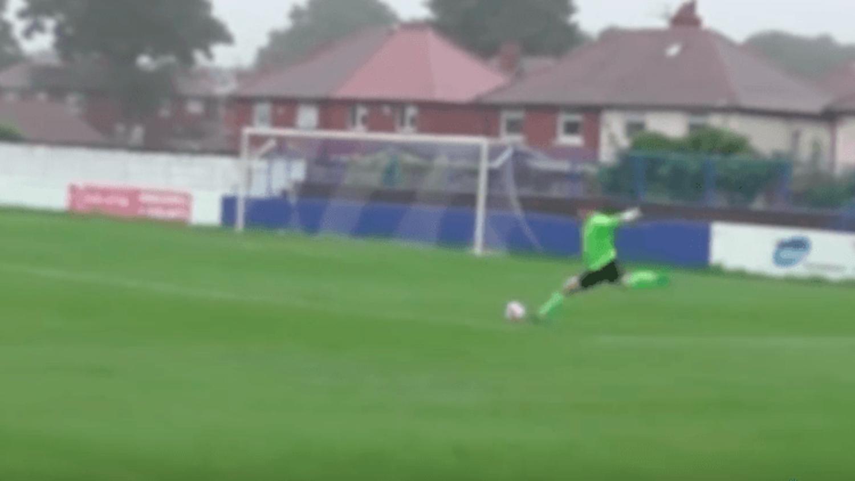 Spennymoor Town FC goalkeeper scores 80 yard free kick goal