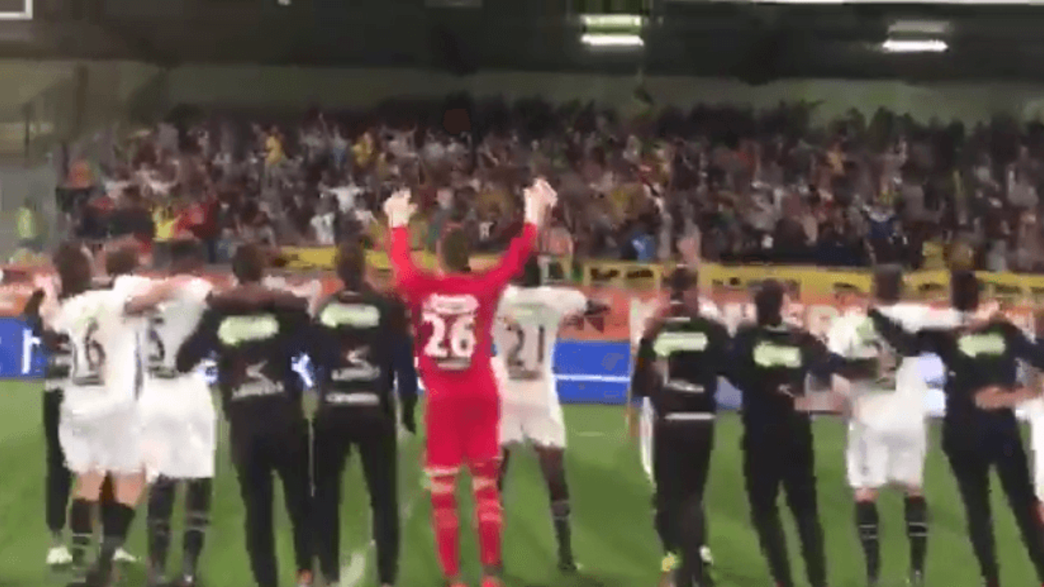 How NAC Breda Players & Fans Celebrated Their 4-2 Victory over RKC