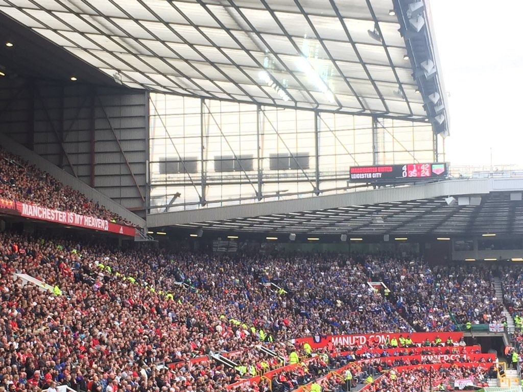 Leicester Fans At Old Trafford