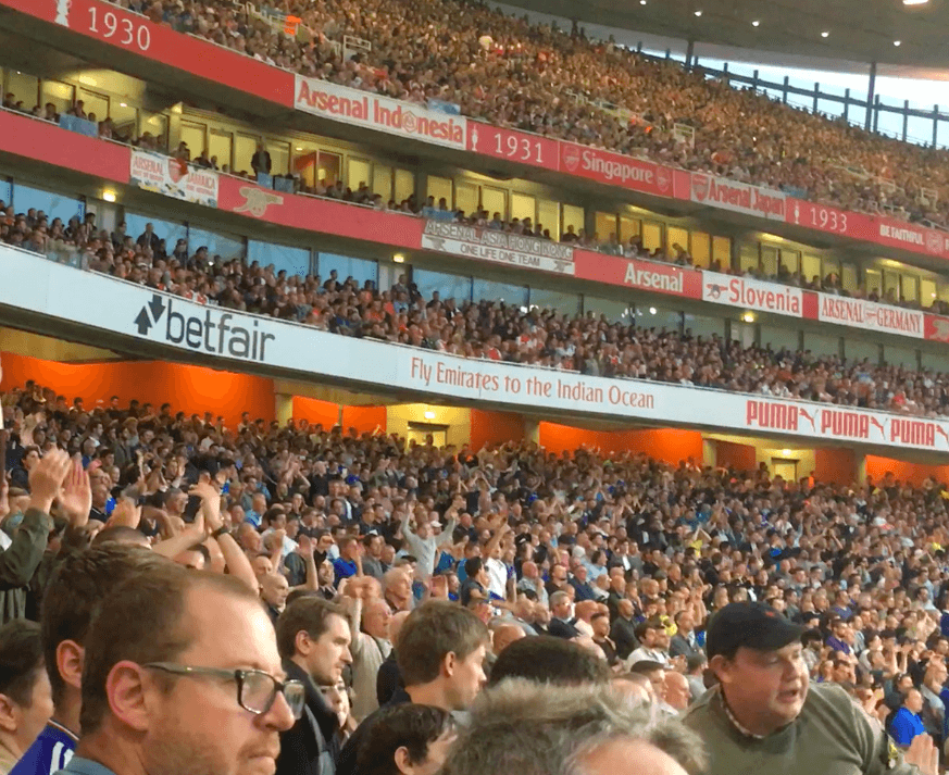 Chelsea Fans At The Emirates
