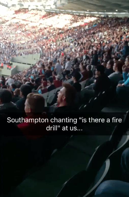 Southampton Fans At The London Stadium