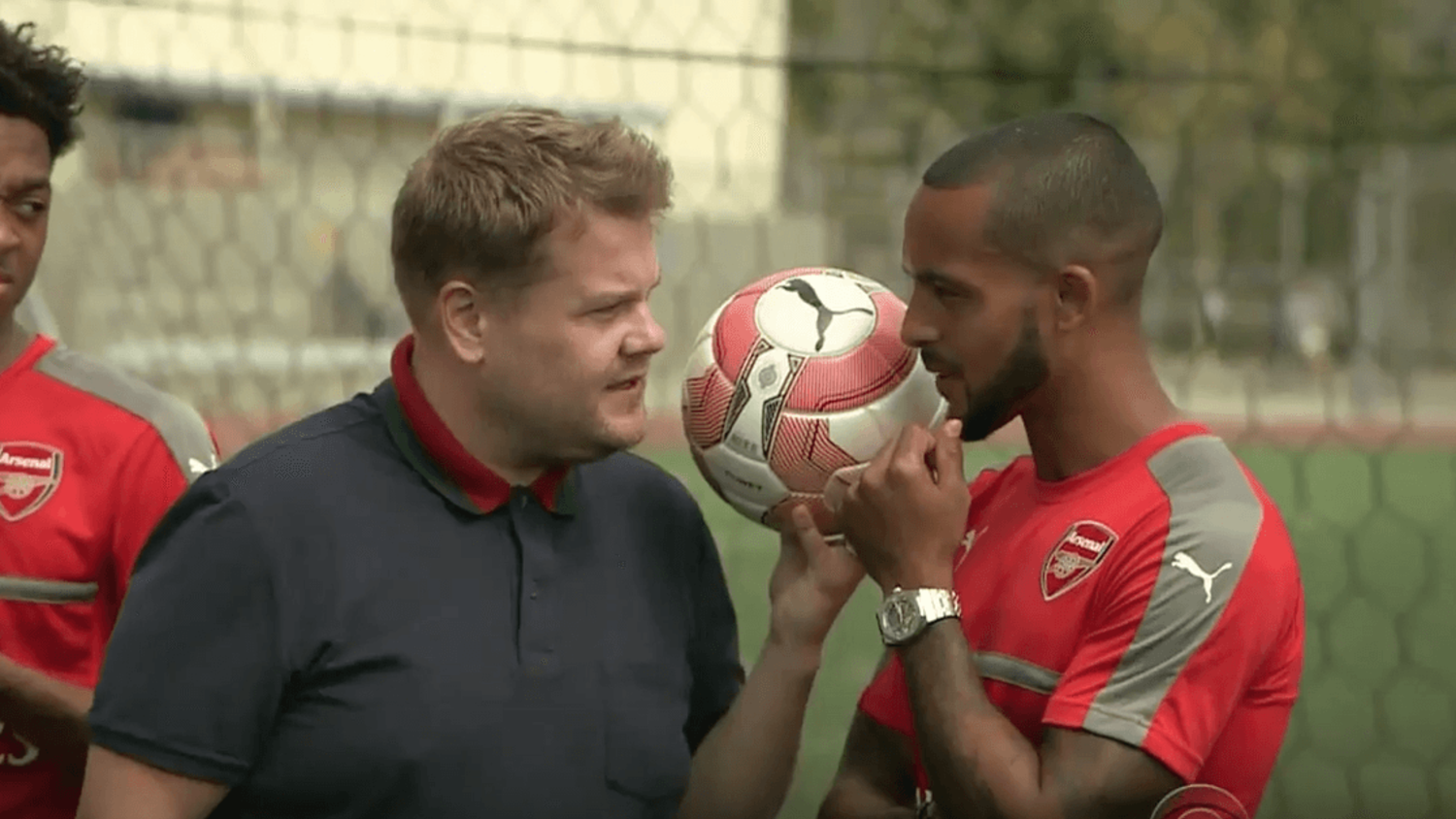 Arsenal Stars In Hilarious James Corden Training
