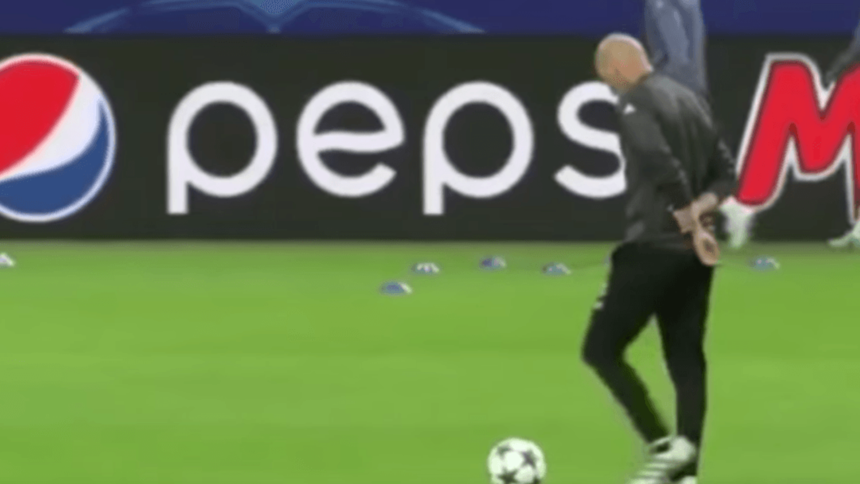 Zinedine Zidane still has the best touch in football