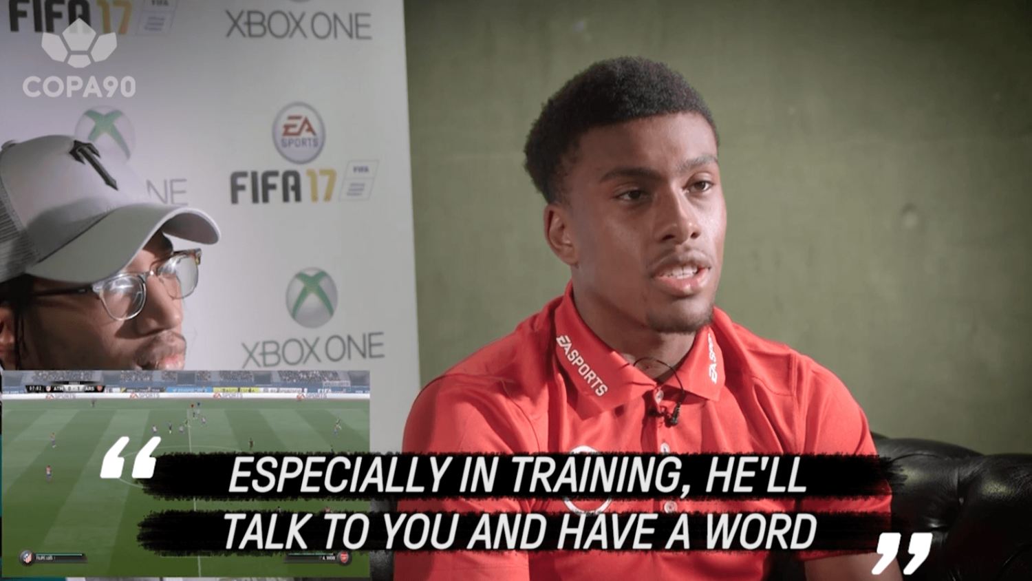Alex Iwobi Reveals Thoughts on 'Father Wenger'