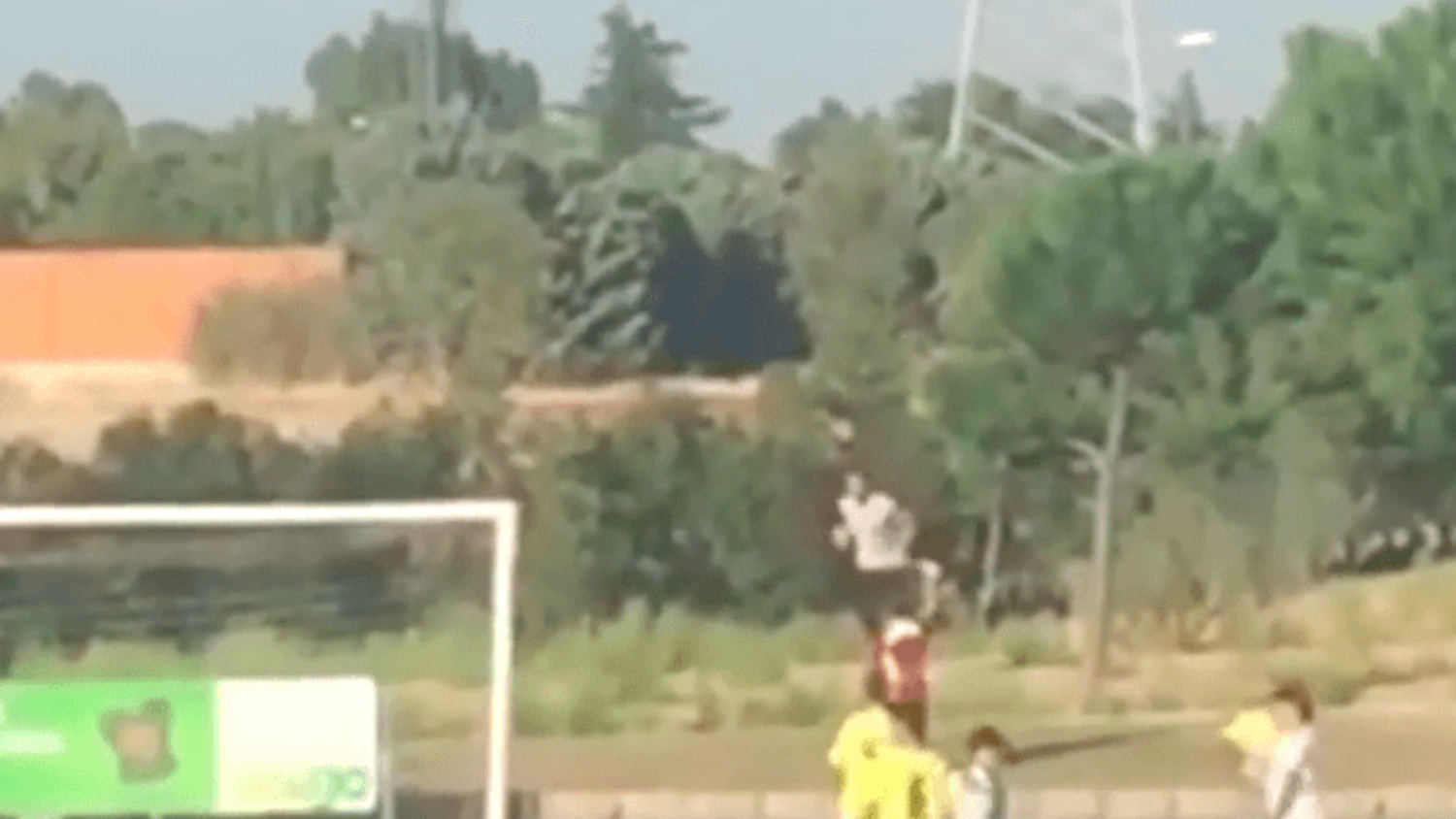 Cristiano Ronaldo plays ballboy at son's football game