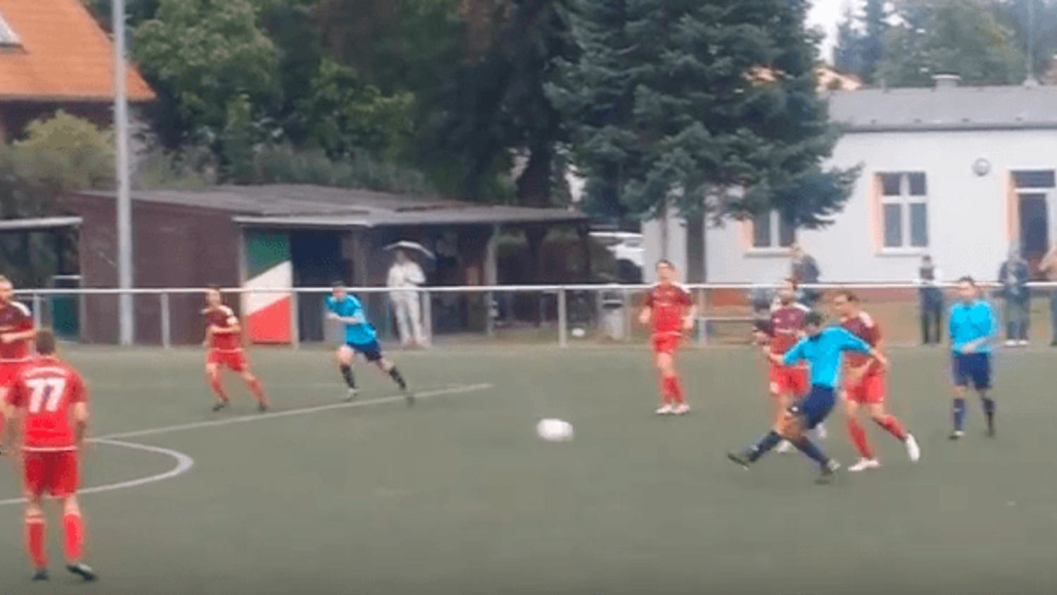 German 8th Division Player Hits Crossbar To Assist His Own Outrageous Volley