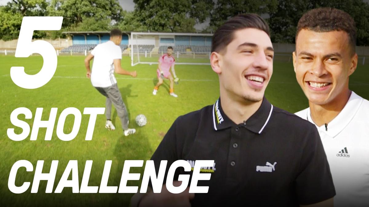 Dele Alli vs Hector Bellerin in the 5 Shot Challenge!
