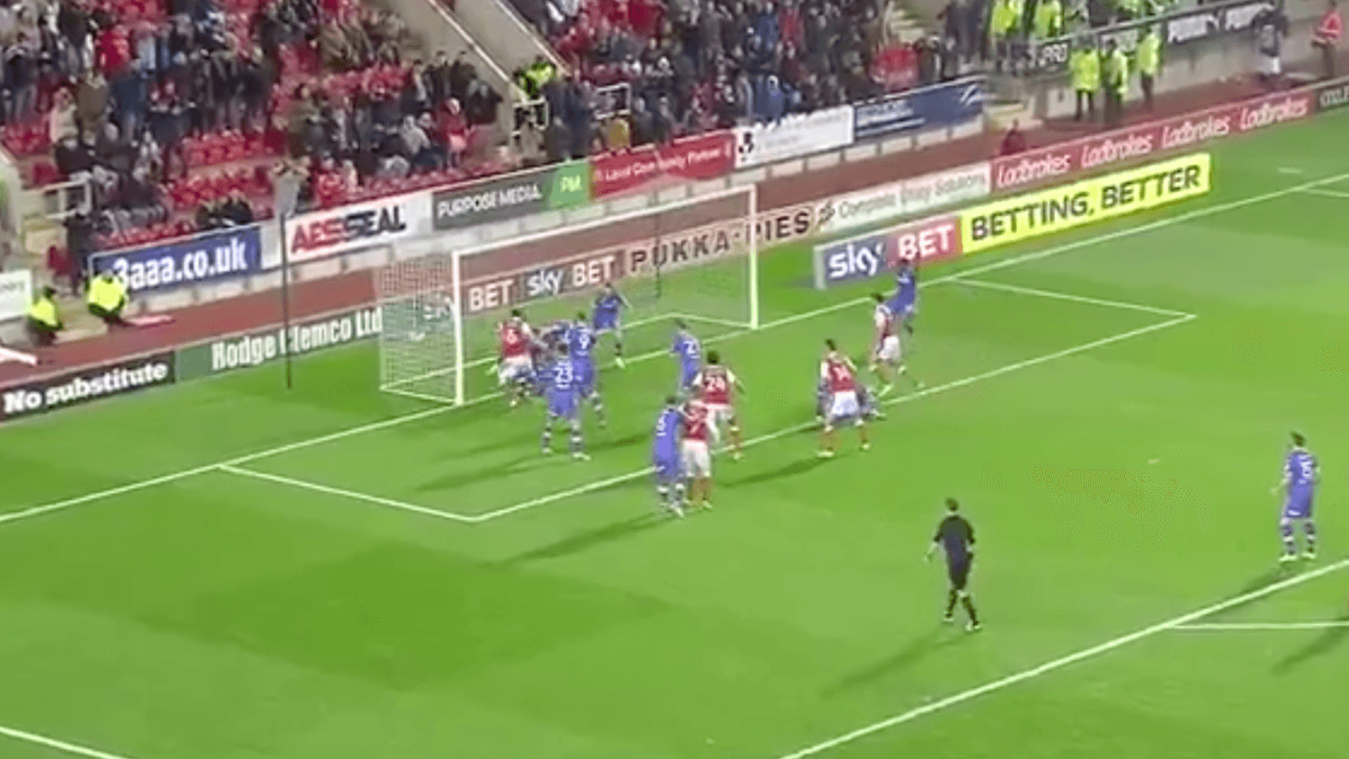 Rotherham United fail to score in incredible goalmouth scramble