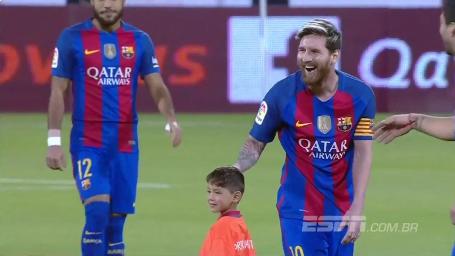 Boy With Famous Messi 'Plastic Bag' Shirt Finally Meets His Hero