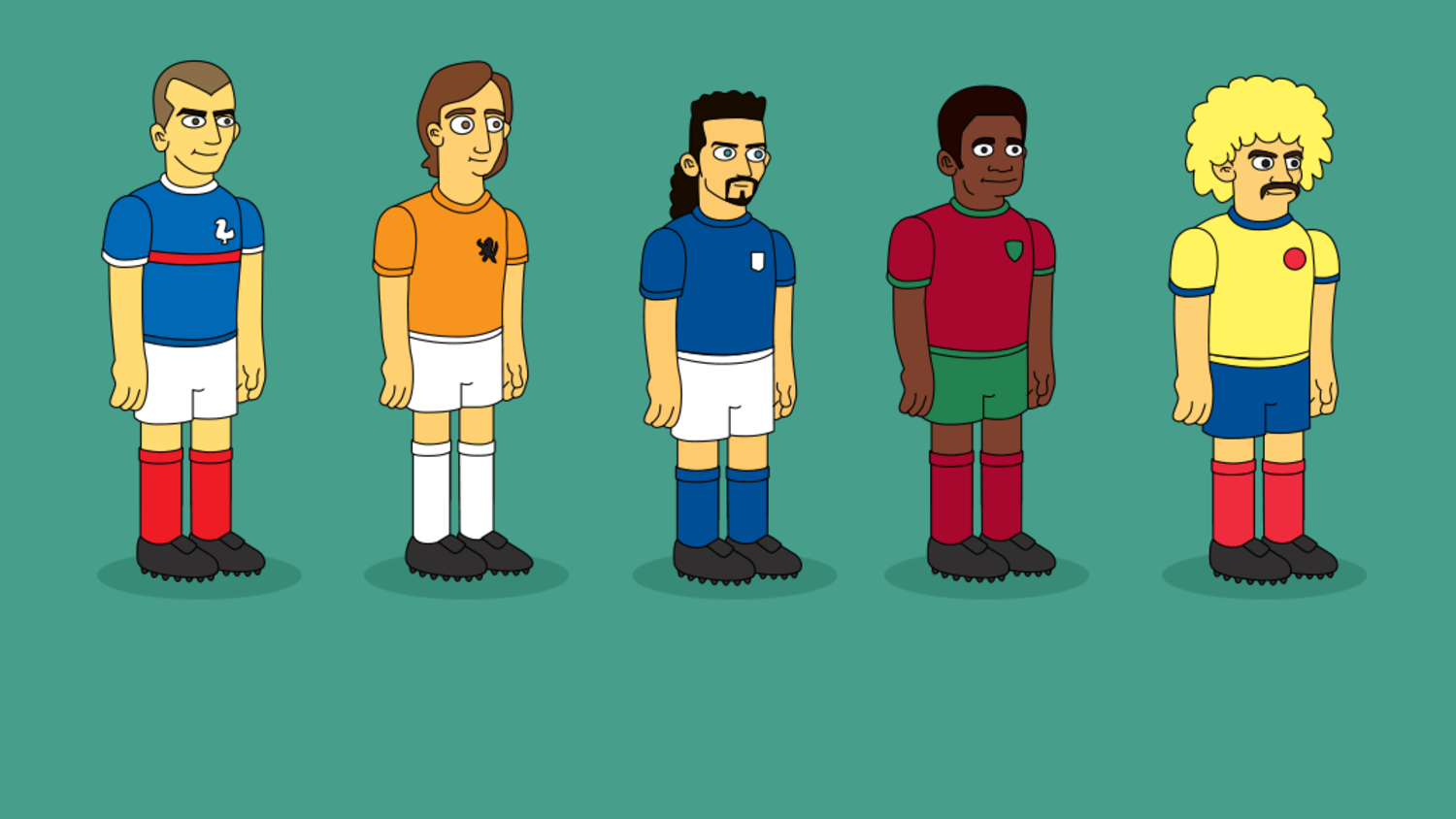 Football stars & legends as Simpsons Characters
